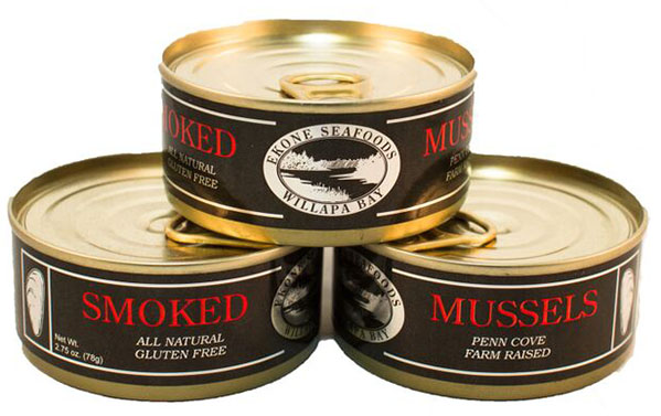 Nutrition Info: Smoked Mussels by Ekone Seafoods Willapa Bay