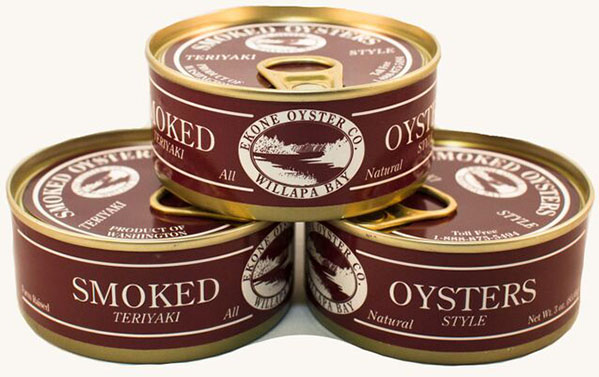 Nutrition Info: Smoked Teriyaki Oysters by Ekone Seafoods Willapa Bay